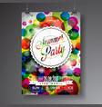 summer party flyer design vector image