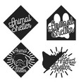 vintage animal shelter emblems vector image