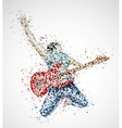 Abstract guitarist vector image