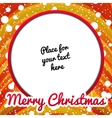 Christmas frame with place for text vector image