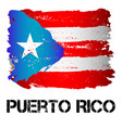 flag of puerto rico from brush strokes vector image