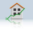3d icon house with green arrow vector image
