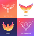 abstract logo design template in bright gradient vector image vector image