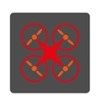 Air Copter Rounded Square Button vector image vector image