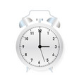 alarm clock wake-up time on white background vector image vector image