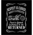 american retro label motorcycle logo vector image