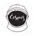 Astronaut helmet with inscription cosmos in the vector image vector image