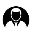 avatar icon male user person profile symbol in vector image