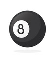black billiard ball number eight vector image