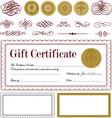 burgundy certificate frame set vector image vector image