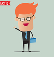 Business man holding bag - - EPS10 vector image vector image