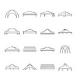 canopy shed overhang icons set outline style vector image vector image