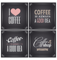 chalkboard retro style coffee designs collection vector image