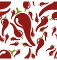 chilli seamless pattern vector image vector image
