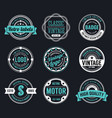 circle vintage and retro badge design vector image vector image