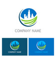 cityscape environment building logo vector image vector image
