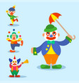 clown circus man characters performer vector image