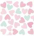 colorful hearts seamless pattern on valentines day vector image