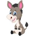 Cute baby donkey cartoon vector image vector image