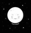cute cartoon moon vector image vector image