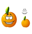 Cute orange apricot cartoon character vector image vector image
