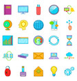 data request icons set cartoon style vector image vector image