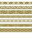 decorative seamless borders vintage design vector image vector image