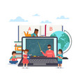 distance learning children study online remote vector image vector image
