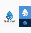 drop water wave logo design creative idea logos vector image vector image