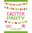 easter party invitation poster vector image vector image
