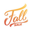 fall sale hand lettering calligraphy fall sale vector image