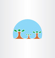 family tree icon symbol vector image vector image