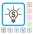 financial idea bulb framed icon vector image vector image