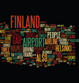 finland text background word cloud concept vector image vector image