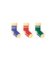 flat christmas socks for presents isolated on vector image vector image