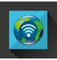 globe world internet connection service vector image vector image