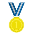 Gold medal first place vector image vector image