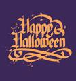 halloween typographical concept vector image vector image