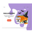 halloween website landing page design vector image