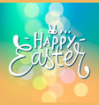 happy easter typographical blurred background vector image vector image
