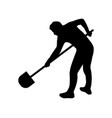 icon man digging vector image