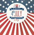 Independence Day Greeting Card Design vector image vector image