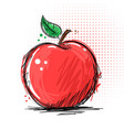 ink and marker - apple vector image vector image