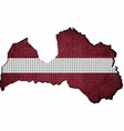 latvia map with flag inside vector image vector image