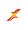 letter x forbidden logo vector image