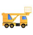 lifting truck icon cartoon style