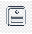 medical records concept linear icon isolated on vector image