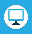 monitor icon colored symbol premium quality vector image vector image