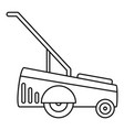 motor grass cutter icon outline style vector image vector image