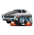 muscle car hot rod cartoon vector image vector image